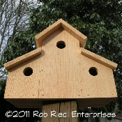 CLEARWATER assembled birdhouse from The Birdhouse Depot.