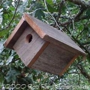 CARBON assembled birdhouse from The Birdhouse Depot.