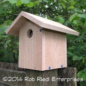 CISPUS assembled birdhouse from The Birdhouse Depot.